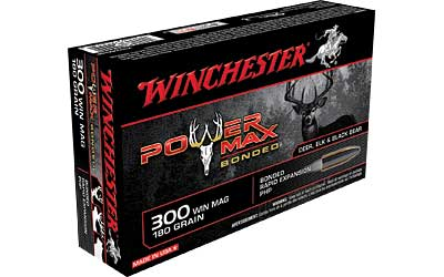 Winchester Super-X, 300 WIN MAG, 180 Grain, Power Max Bonded, 20 Round Box X30WM2BP