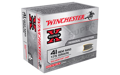 Winchester Super-X, 41 Mag, 175 Grain, Silvertip Hollow Point, 20 Round Box X41MSTHP2