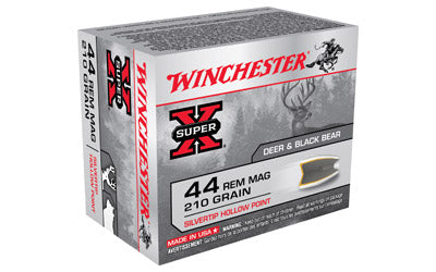 Winchester Super-X, 44MAG, 240 Grain, Silvertip Hollow Point, 20 Round Box X44MS