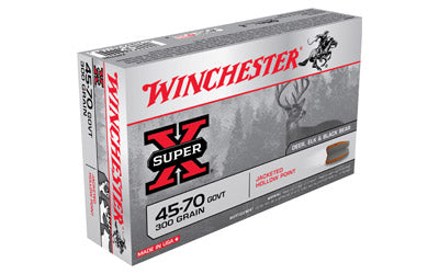 Winchester Super-X, 45-70 Government, 300 Grain, Jacketed Hollow Point, 20 Round Box X4570H