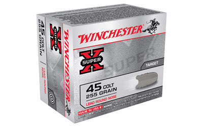 Winchester Super-X, 45LC, 255 Grain, Lead Round Nose, 20 Round Box X45CP2