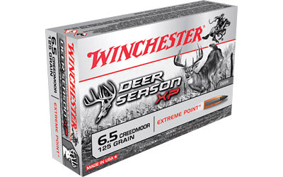 Winchester Deer Season, 6.5 Creedmoor, 125 Grain, Extreme Point Polymer Tip, 20 Round Box X65DS
