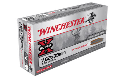 Winchester Super-X, 762x39, 123 Grain, Soft Point, 20 Round Box X76239