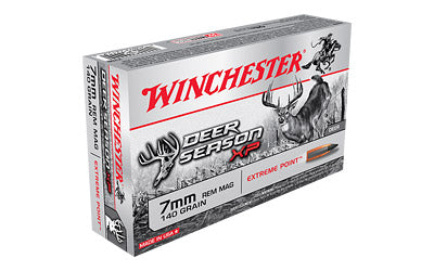 Winchester Deer Season, 7MM Rem, 140 Grain, Extreme Point Polymer Tip, 20 Round Box X7DS