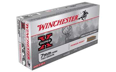 Winchester Super-X, 7MM WSM, 150 Grain, Power Point, 20 Round Box X7MMWSM