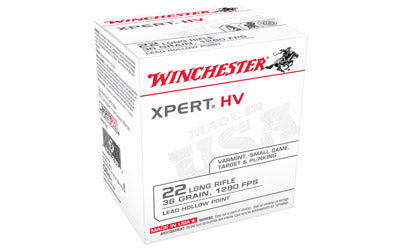 Winchester Xpert, 22LR, 36 Grain, Lead Hollow Point, 500 Round Brick XPERT22