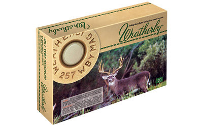 Weatherby Select Plus Ammunition, 257 Weatherby, 80 Grain, Barnes Tipped Triple Shock X, 20 Round Box B25780TTSX