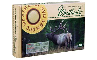 Weatherby Select Ammunition, 300 Weatherby, 180 Grain, Norma Spitzer, 20 Round Box G300180SR