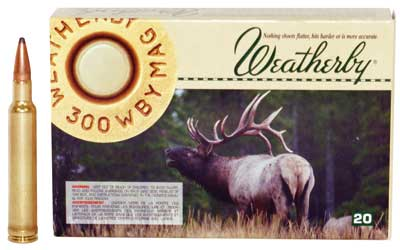 Weatherby Ammunition,300 Weatherby, 165 Grain, Spire Point, 20 Round Box H300165SP