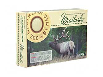 Weatherby Ammunition,300 Weatherby, 180 Grain, Spire Point, 20 Round Box H300180SP