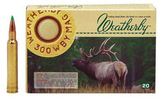 Weatherby Select Plus Ammunition, 300 Weatherby, 165 Grain, Nosler Ballistic Tip, 20 Round Box N300165BST