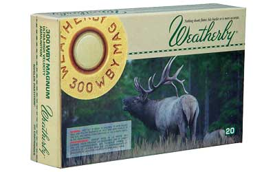 Weatherby Select Plus Ammunition, 300 Weatherby, 180 Grain, Nosler Partition, 20 Round Box N300180PT