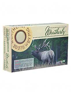 Weatherby Select Plus Ammunition, 30-378 Weatherby, 200 Grain, Nosler Partition, 20 Round Box N303200PT