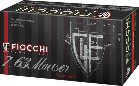 Fiocchi 7.63 Mauser 88Gr. Fmj 50-Pack 763A