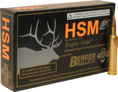 HSM Ammo Tg 7mm Rem Mag 180Gr Berger Match Hunting Vld 20-Pack