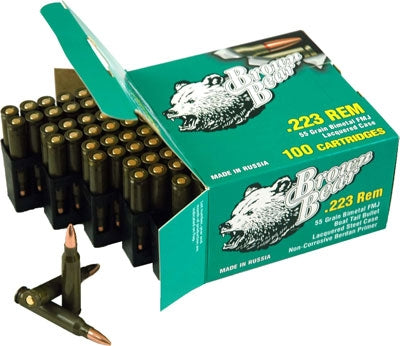 Brown Bear .223 Remington 55Gr FMJ-Bt 800Rnd Case