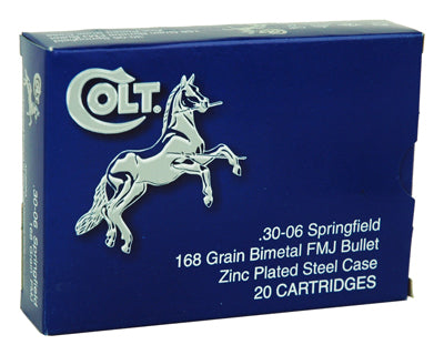 Colt Ammo 30-06 Springfield 168gr. FMJ Zinc Plated 20-Pack