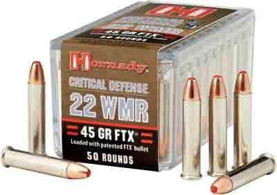Hornady Ammo Critical Defense .22Wmr 45gr. FTX 50-Pack