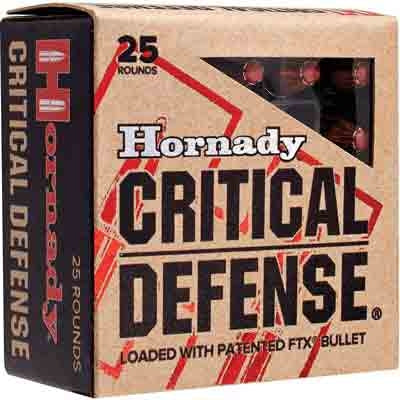 Hornady Ammo Critical Defense .32Naa 80gr. FTX 25-Pack
