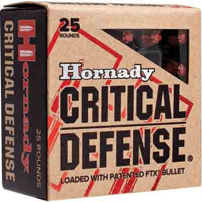 Hornady Ammo Critical Defense .380ACP 90gr. FTX 25-Pack