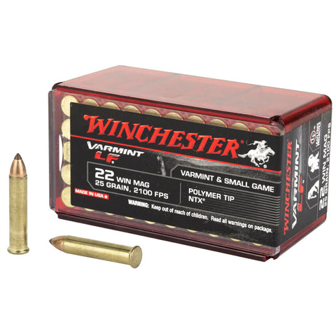 Winchester Ammo X22MHLF Varmint LF 22 Mag 25 gr Jacketed Hollow Point (JHP) 50 Bx/ 40 Cs