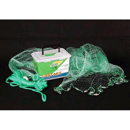 "Ahi 400 Series Cast Net 7 ft - Green Mono Net 5/8"" Mesh"