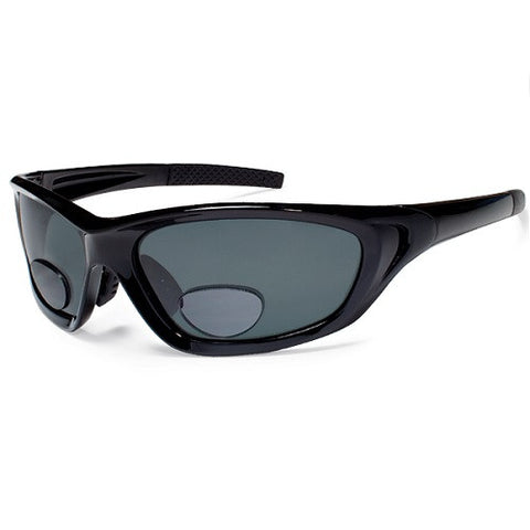 Gone Fishing Dorado Matte Black Frame/Smoke Lens +2.5