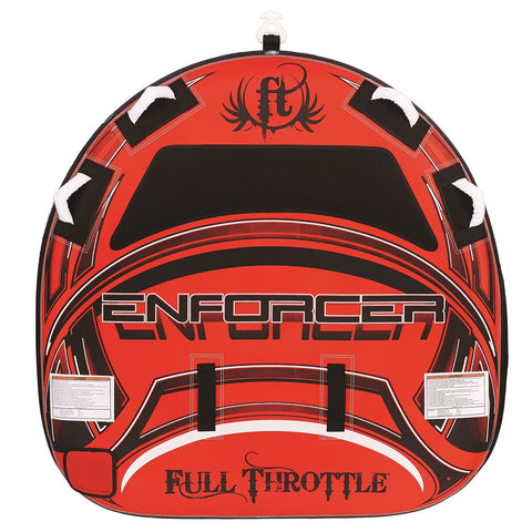 "Full Throttle Enforcer 60"" D-Shaped Tube-Red"
