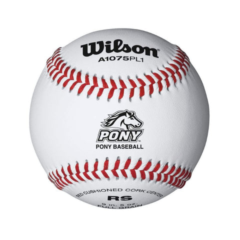 Wilson Pony League Raised Seam Baseball 12 Pack