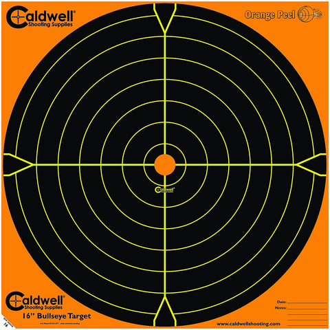 "Caldwell Orange Peel 16"" Bulls-Eye - 5 Sheets"