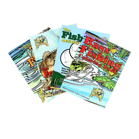 Top Brass Tackle Fishing Coloring Book Assortment - 4 Books