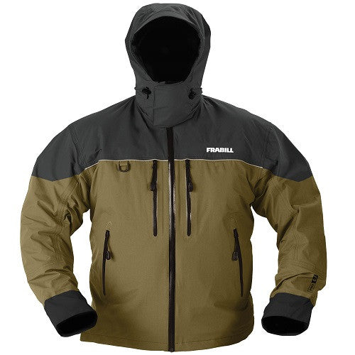 Frabill F3 Gale Rainsuit Jacket - Charcoal Grey/Brown -2XL