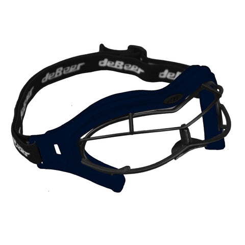 deBeer Lacrosse Lucent SI Goggle Navy Frame and Black Wire
