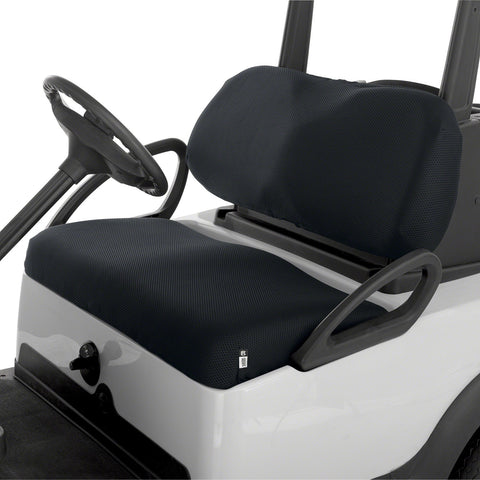 Fairway Golf Cart Diamond Air Mesh Seat Cover - Black