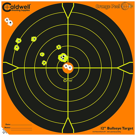 "Caldwell Orange Peel 12"" Bulls-Eye: 50 Sheets"