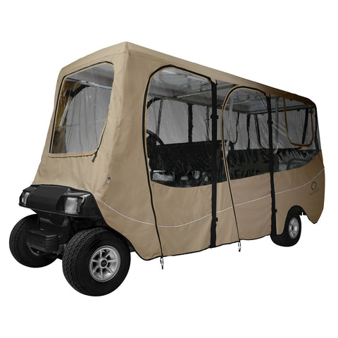 Fairway Golf Cart Deluxe Enclosure Extra Long Roof - Khaki