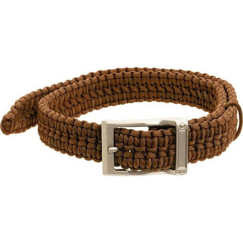 Timberline Coyote Tan Paracord Survival Belt-Medium