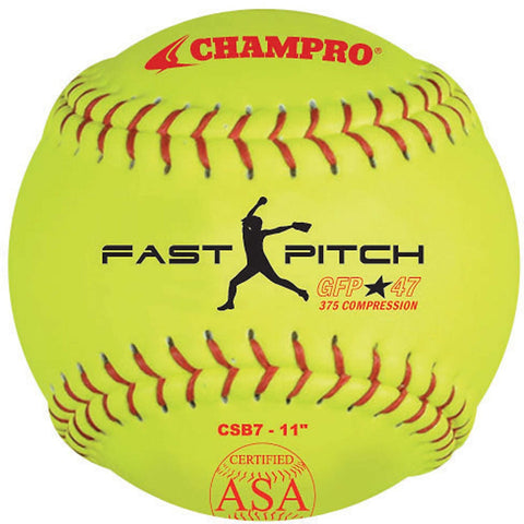 "Champro ASA 11"" Fast Pitch Softball Dozen"