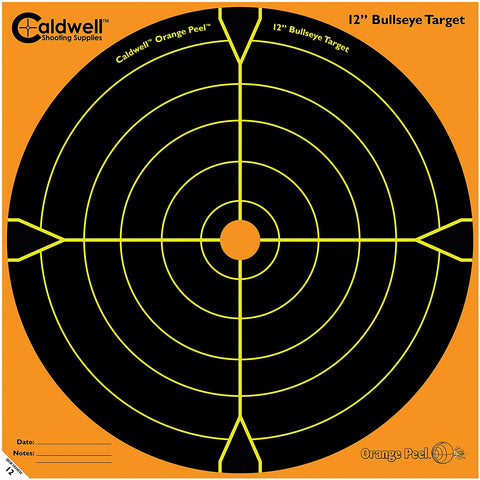 "Caldwell Orange Peel 12"" Bulls-Eye - 10 Sheets"