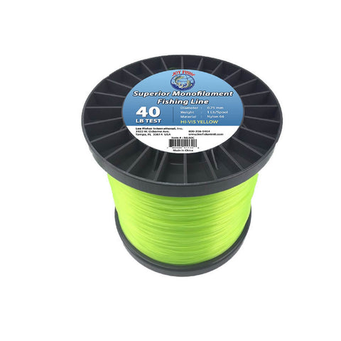 Joy Fish 5 Lb Spool Monofilament Fishing Line-40Lb Hi-Vis