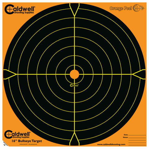"Caldwell Orange Peel 16"" Bulls-Eye - 10 Sheets"