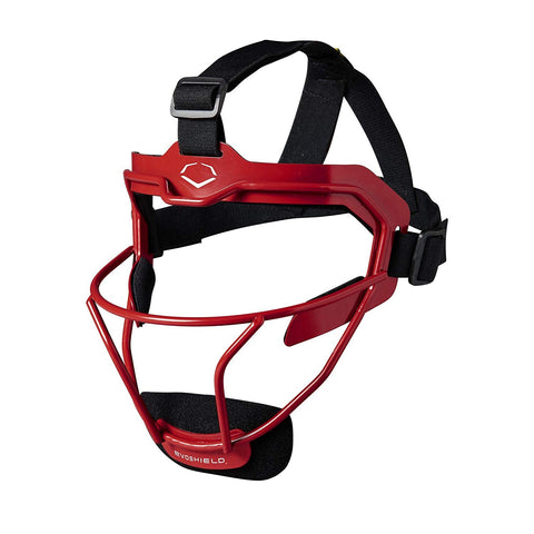 EvoShield Softball Defender's Facemask Scarlet