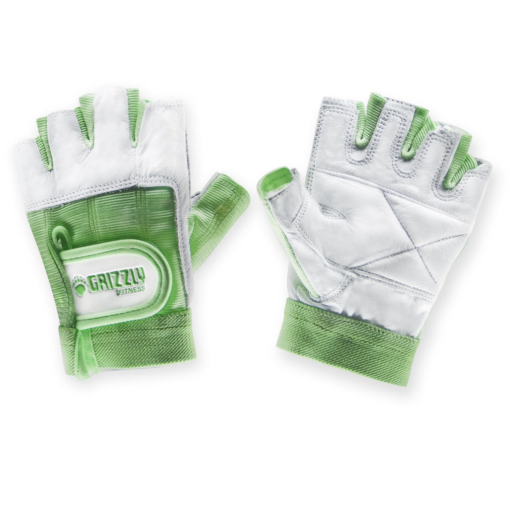 Womens Green Grizzly Paw Gloves - Large