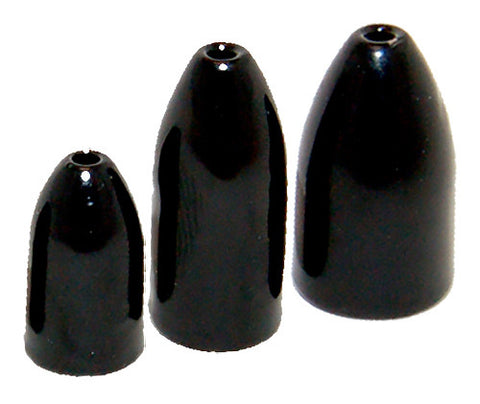 Bullet Weight 3/8 oz Black 5 Pack