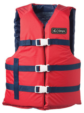Onyx Universal Boating Vest Adult Extra-Lage Red/Black