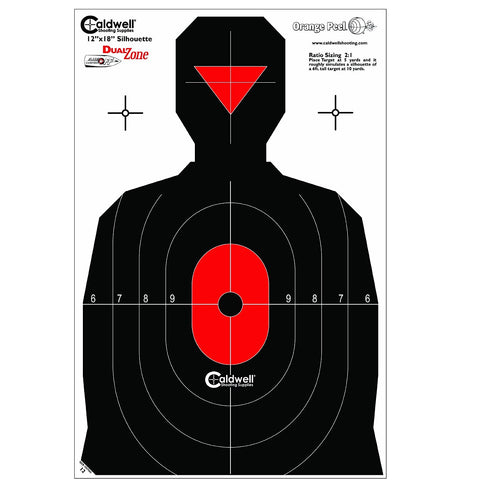 Caldwell Silhouette Dual Zone Target - 25pk