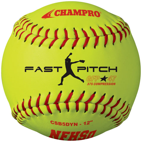 "Champro NFHS 12"" Fast Pitch Softball Dozen"