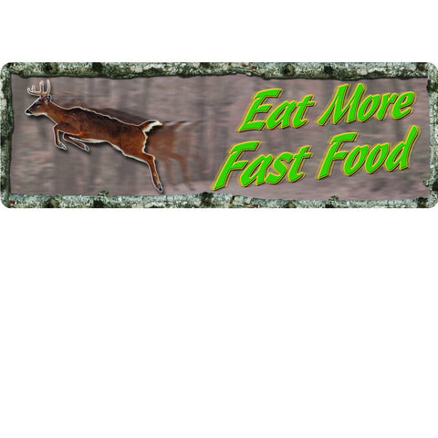 REP New-Large-Eat More Fast Food Tin Sign