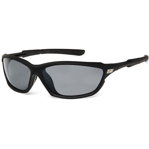 Gone Fishing Coho Black Frame/Grey Lens Sunglasses