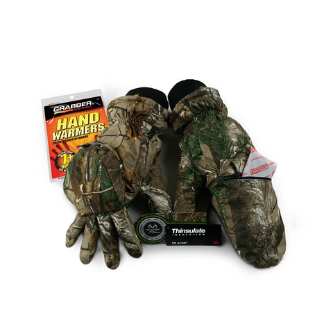 Grabber Convertible Insulated Gloves - Realtree Extra XL